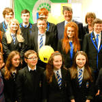 Lourdes Pupils with Warren Bader and Alistair Carmichael