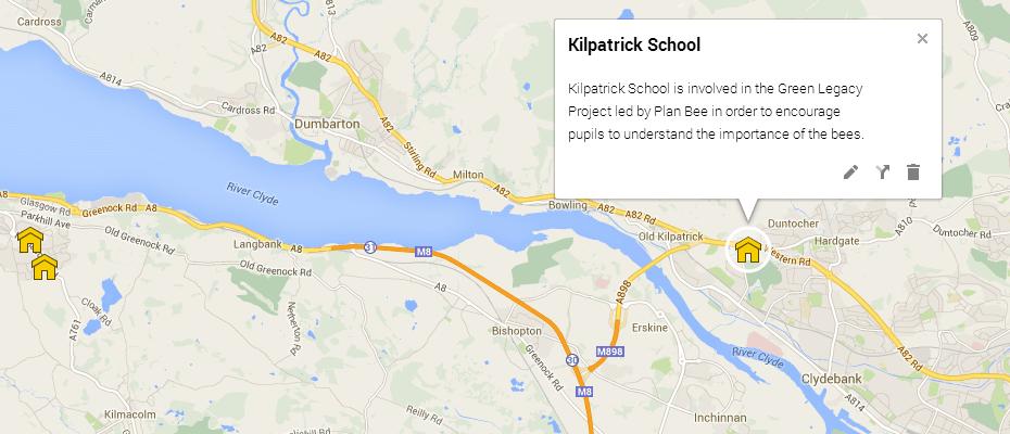 Map Kilpatrick School - Plan Bee Ltd - Green Legacy project
