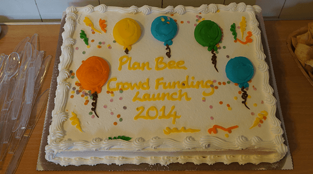 Crowdfunding cake - Plan Bee Ltd