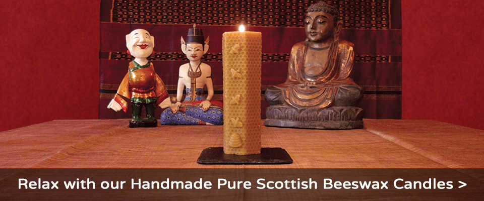 Relax with our handmade pure Scottish beeswax candles - Plan Bee Ltd