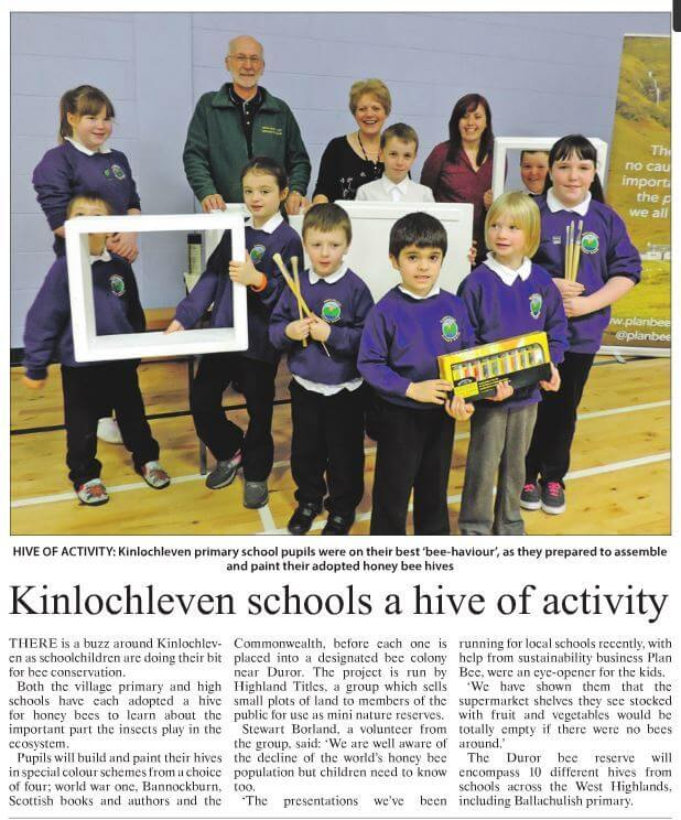 Kinlochleven Schools a Hive of Activity - Highland Titles - Plan Bee Ltd