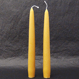 Pair of Natural Scottish Beeswax Tapered Dinner Candle - 42g each - Plan Bee Ltd
