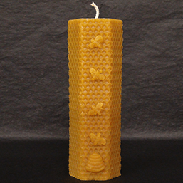Natural Scottish Beeswax Honeycomb Candle - 216g - Plan Bee Ltd