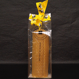 Natural Scottish Beeswax Rolled Candle - 216g - Plan Bee Ltd