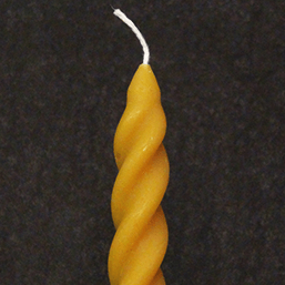 Pair of Natural Scottish Beeswax Spiral Dinner Candle - 42g each - Plan Bee Ltd